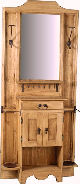 mexico garderobe 10275 massivholz m bel pinie honig ebay. Black Bedroom Furniture Sets. Home Design Ideas