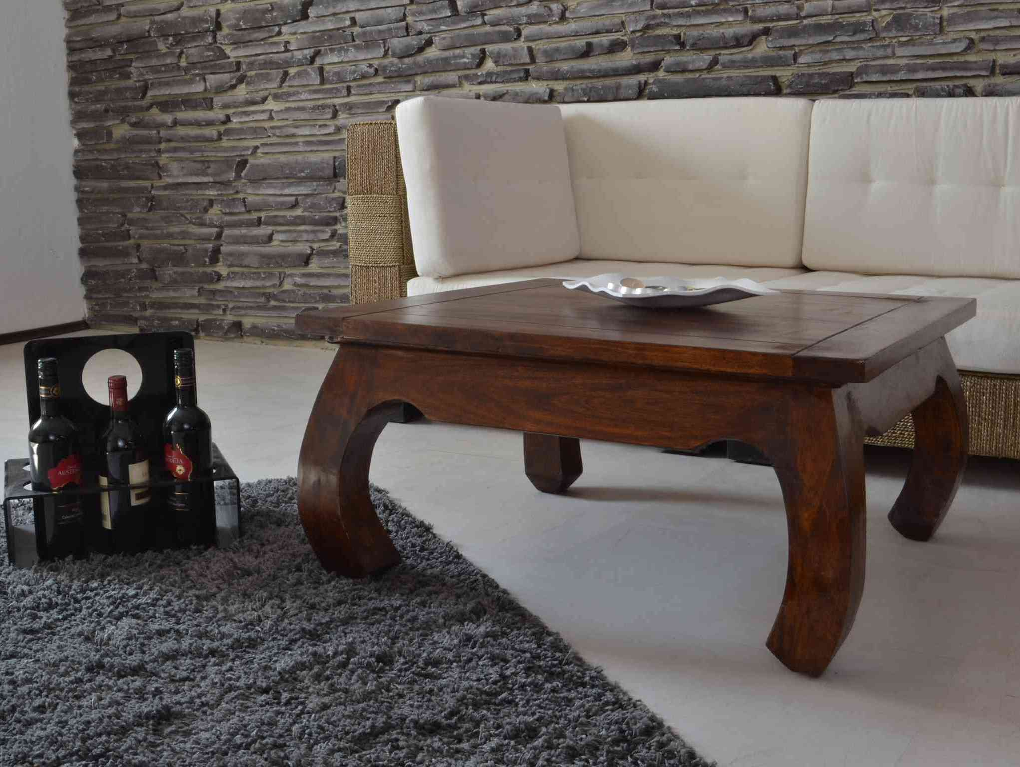 opium couchtisch massivholz m bel akazie walnuss 20538 ebay. Black Bedroom Furniture Sets. Home Design Ideas