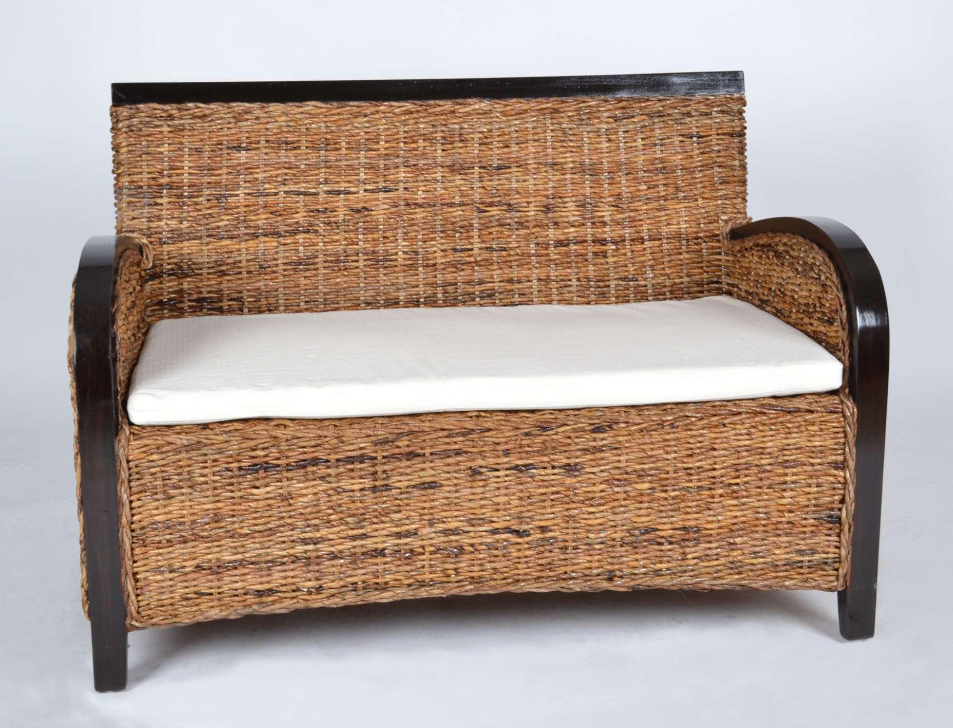 rattansofa 39 kasbulah 39 2 sitzer 80022 bananenblatt geflecht m bel natur ebay. Black Bedroom Furniture Sets. Home Design Ideas