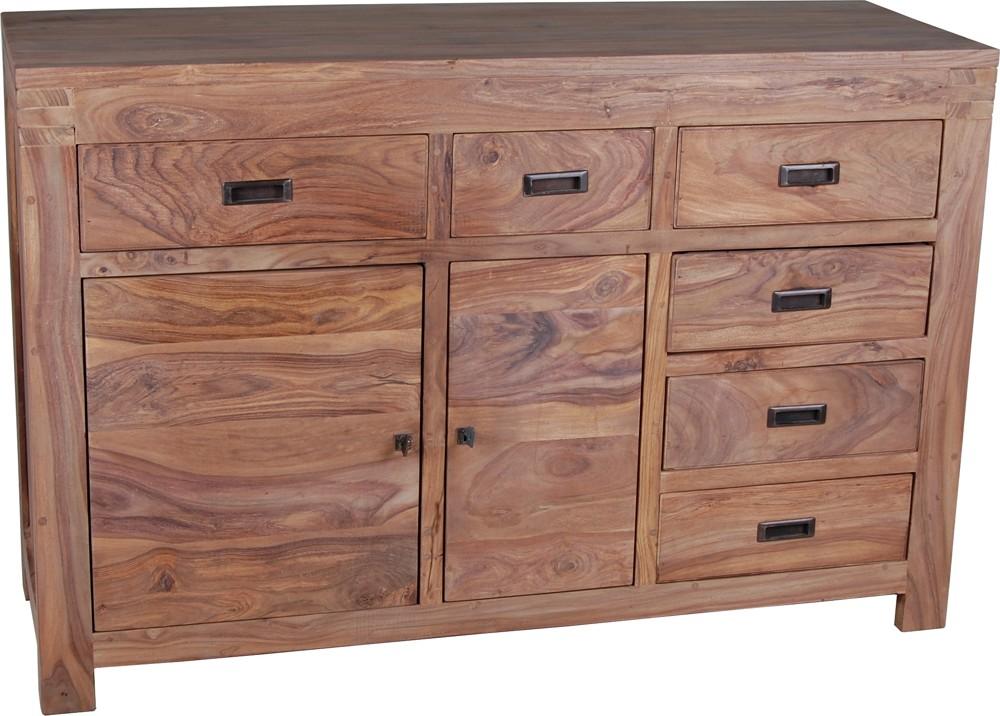 kommode masala gro 20315 massivholz m bel sheesham natur ebay. Black Bedroom Furniture Sets. Home Design Ideas