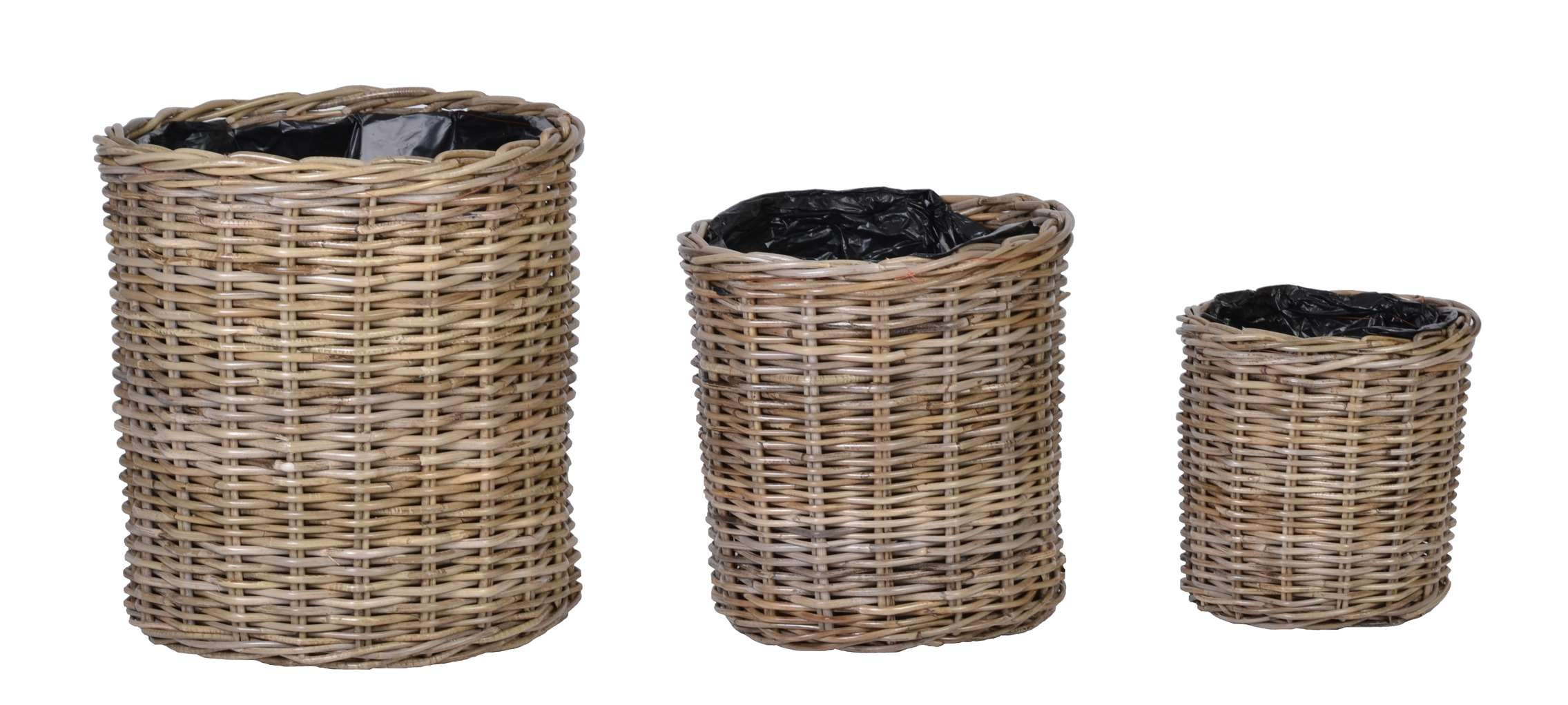 rattan korb blumentopf rattan m bel grau 50228 ebay. Black Bedroom Furniture Sets. Home Design Ideas