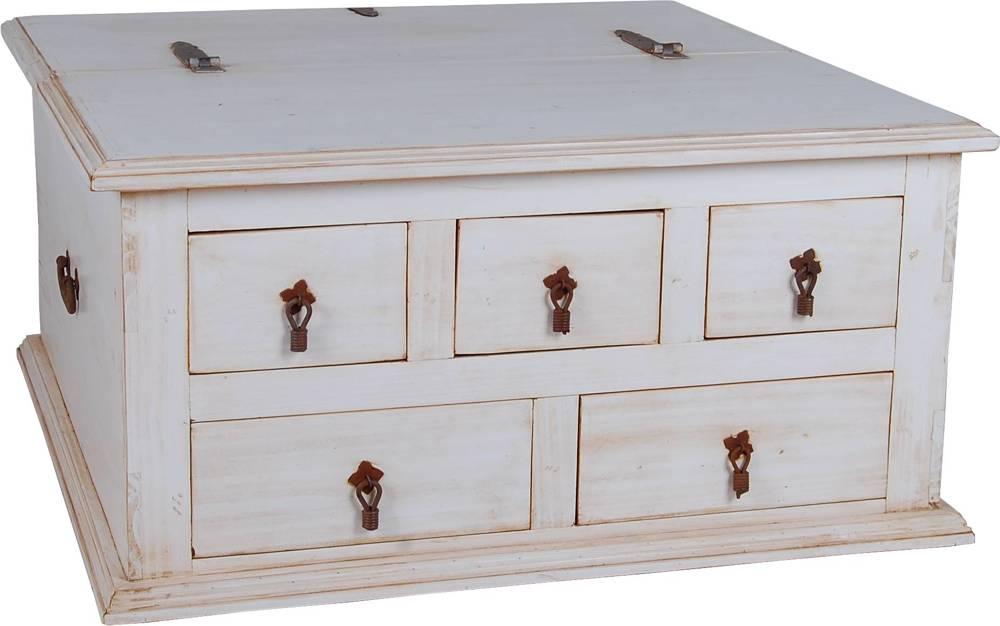 Mexico Couchtisch / Truhe - 10547 - Massivholz Möbel Pinie weiß  eBay