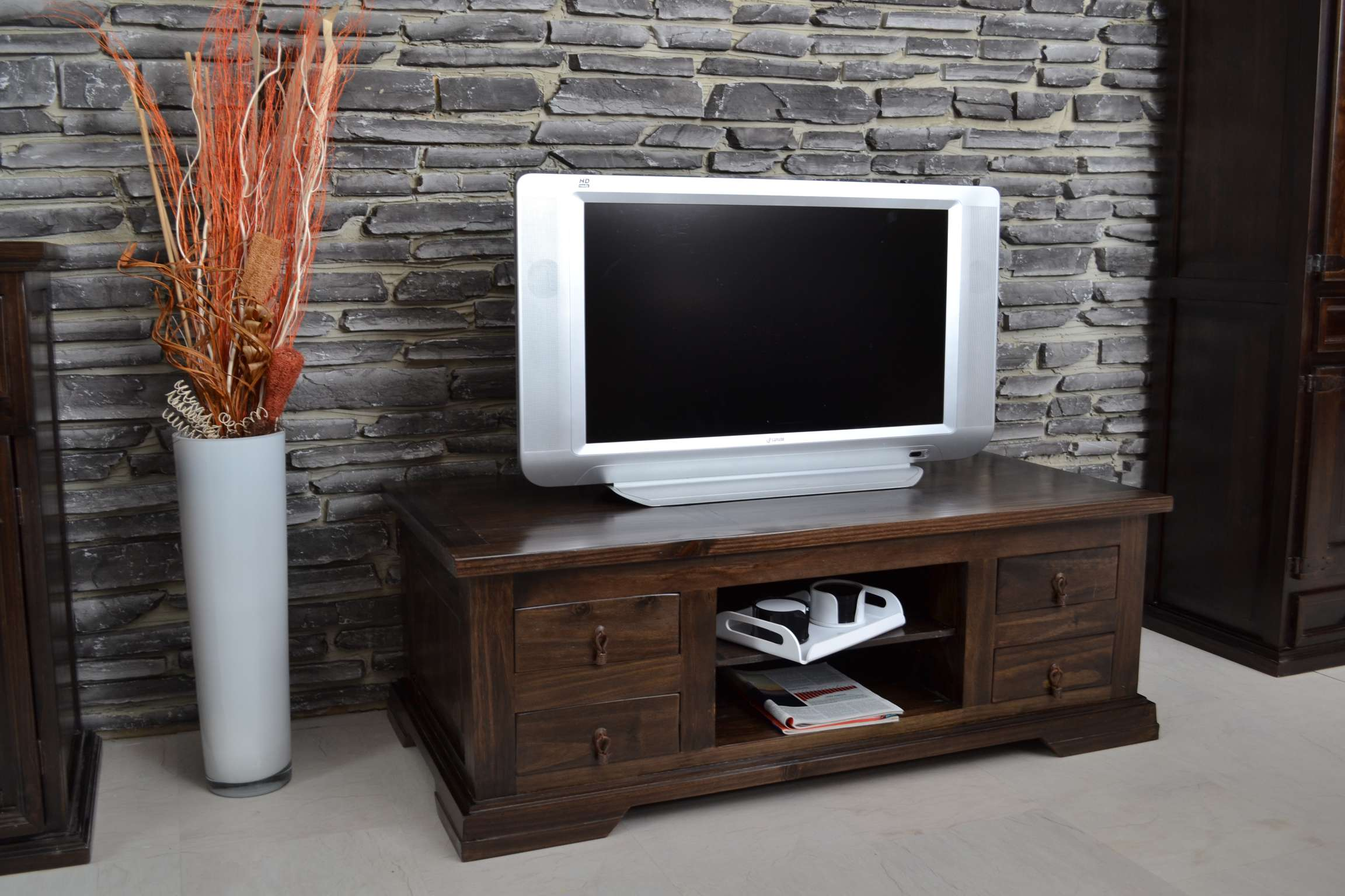mexico tv kommode massivholz m bel pinie kolonialstil 10554 mexiko ebay. Black Bedroom Furniture Sets. Home Design Ideas
