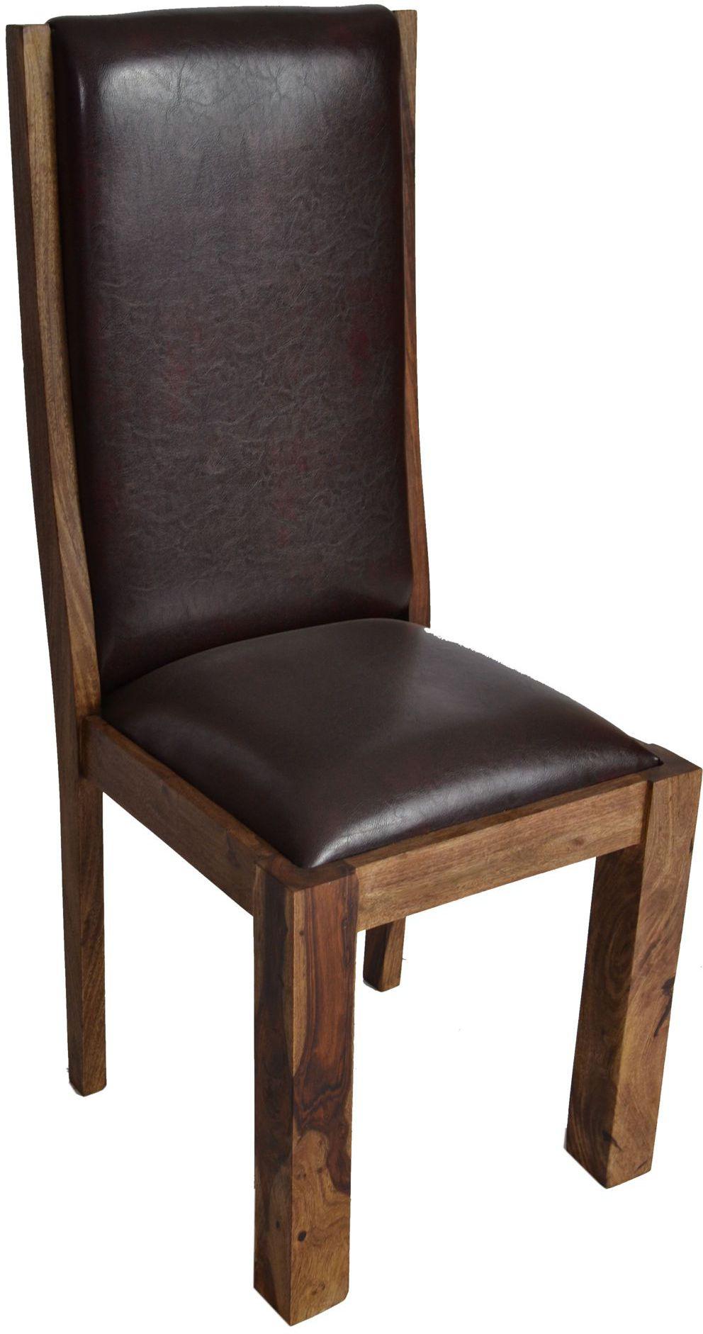 Stuhl masala gepolstert kunstleder massivholz m bel for Stuhl gepolstert